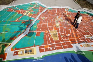 In Barcelona have set a huge interactive map of the city