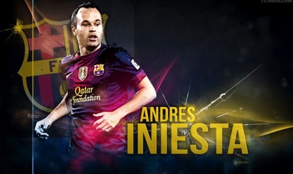 """Andres Iniesta with FC """"Barcelona"""" till 2018"""