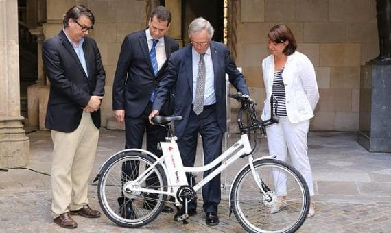The electric bikes in Barcelona