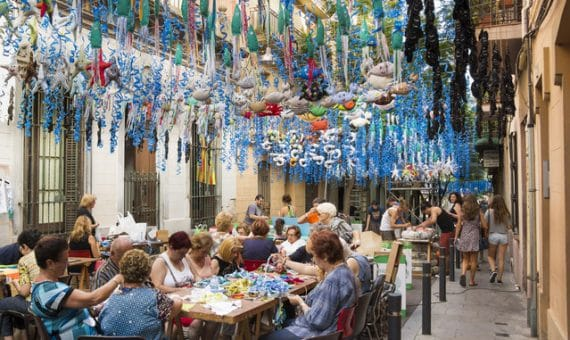 Holiday of Gracia district in Barcelona