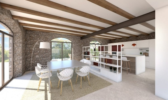Manor in a modern style in an old town 5 km from the beautiful beaches of the Costa Brava | render02_01-570x340-jpg