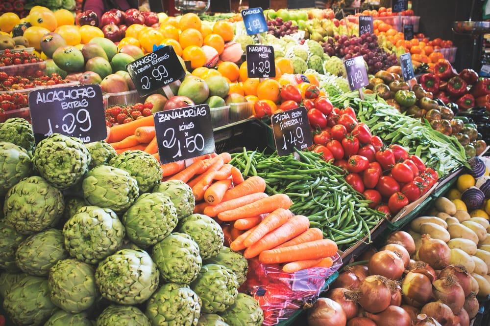 Овощи и фрукты в Испании