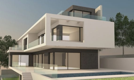 Plot with a project for a modern villa overlooking the sea in Castelldefels | f01-570x340-jpg