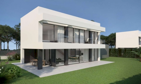 Newly built townhouses with a swimming pool in Begur   2018-08-01-casas-begur-02a-570x340-jpg