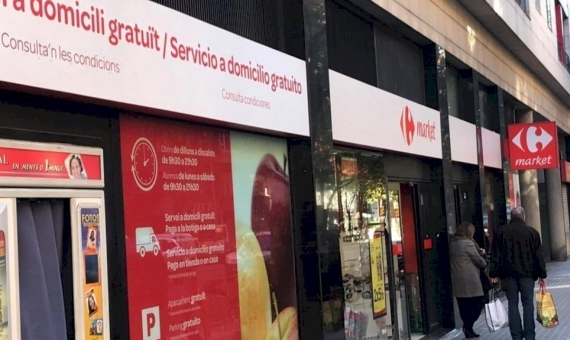 Commercial space 3.155 m2 leased to a supermarket Carrefour in Les Corts | carr-fileminimizer-570x340-jpg