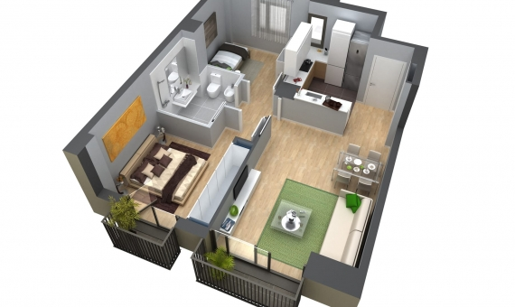 New apartment 62 m2 in Poblenou area   1